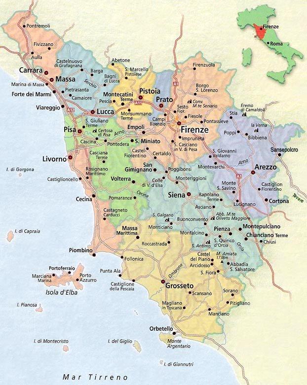 italien karte toskana Karte Toskana & Karte von Toskana Italien italien karte toskana