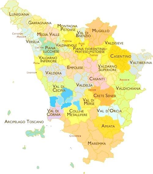 Bien-aimé Carte Toscane & Carte de Toscane Italie IV18